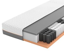 SCHLARAFFIA Taschenfederkern-Matratze GELTEX Solaris ZT TFK mit Touch-Auflage