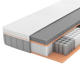 SCHLARAFFIA Taschenfederkern-Matratze GELTEX Solaris ZZ TFK mit Touch-Auflage
