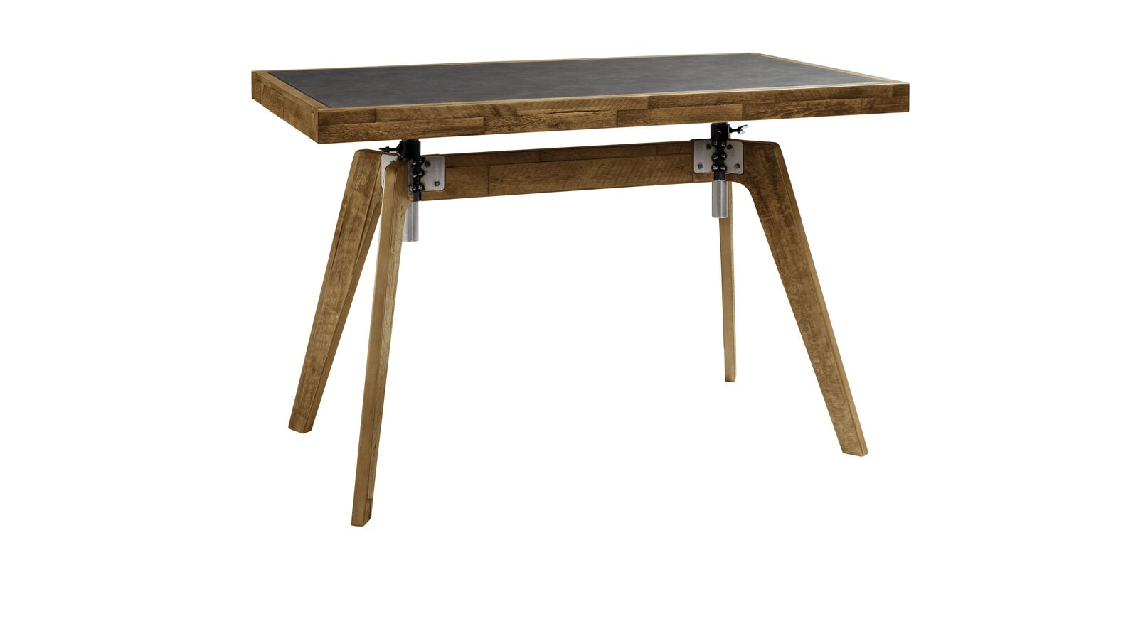 Schreibtisch Banvano aus braunem Akazienholz