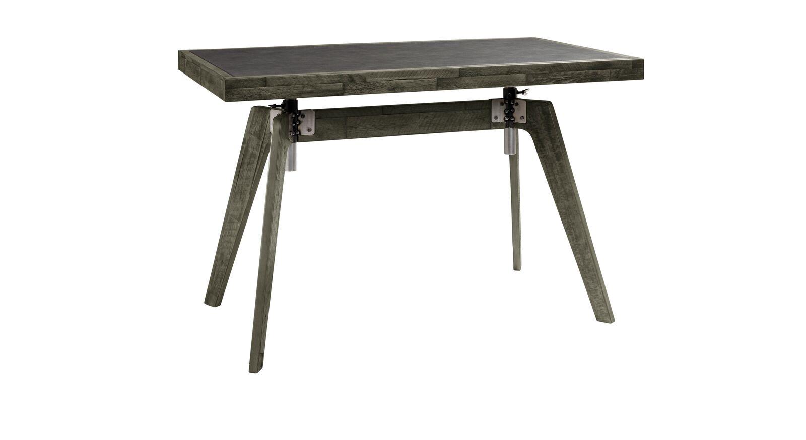 Schreibtisch Banvano aus grauem Akazienholz