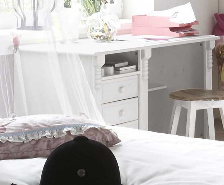 schreibtisch im landhausstil kiefer wei gewachst. Black Bedroom Furniture Sets. Home Design Ideas