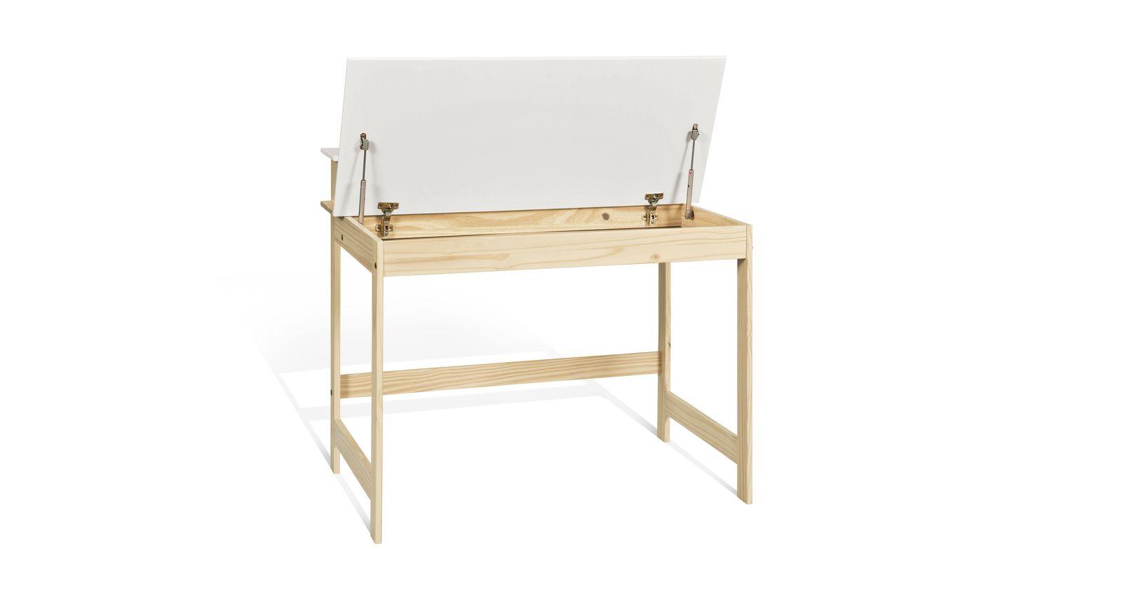 Schreibtisch Stauraum praktischer schreibtisch mit großem ablagefach für kinder - erin
