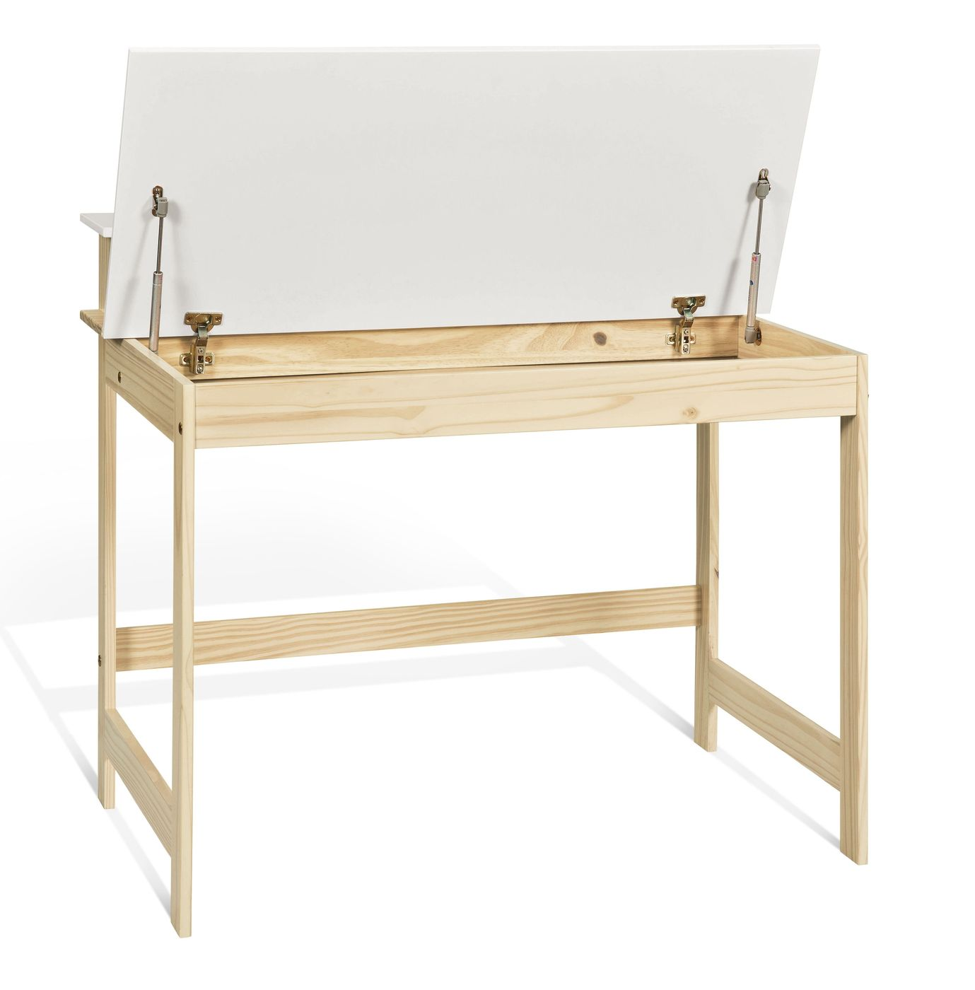 praktischer schreibtisch mit gro em ablagefach f r kinder. Black Bedroom Furniture Sets. Home Design Ideas