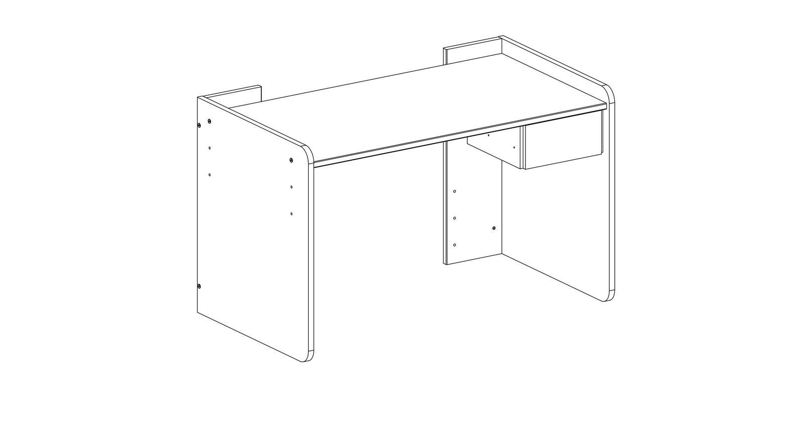 Praktische Grafik zum höhenverstellbarem Schreibtisch
