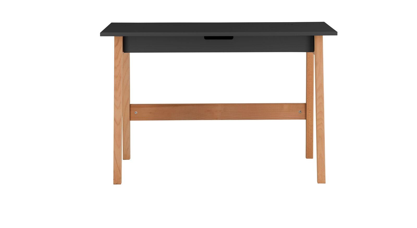 Schreibtisch Kids Nordic mit anthrazitfarbener Tischplatte