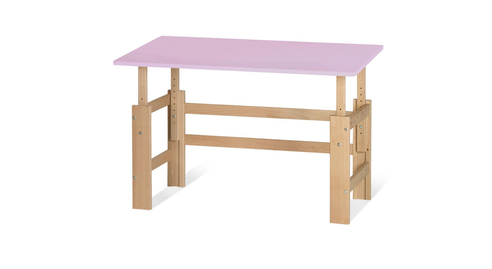 Schreibtisch Kids Town höhenverstellbar in Flieder
