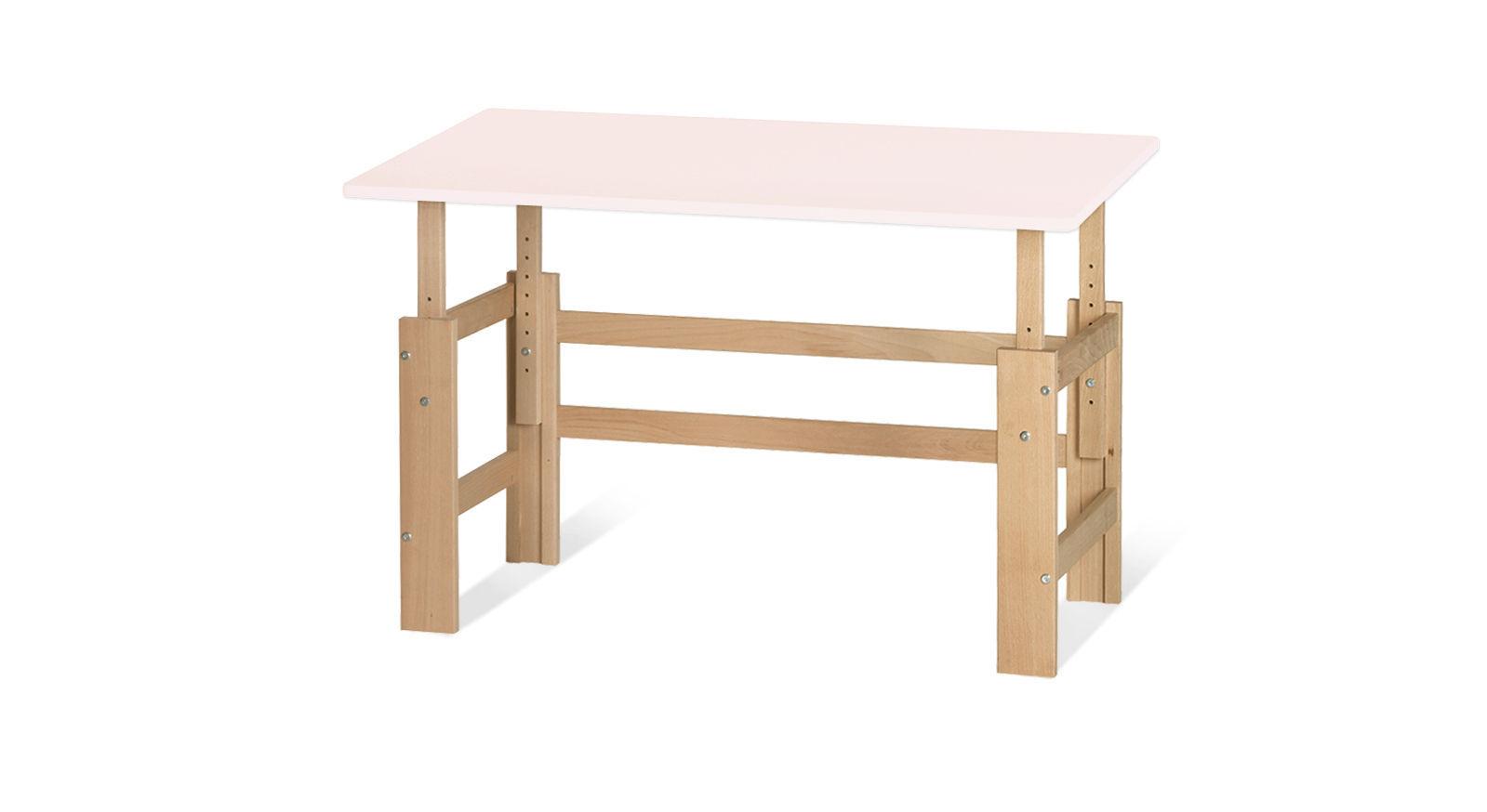 Schreibtisch Kids Town höhenverstellbar in Hellrosa