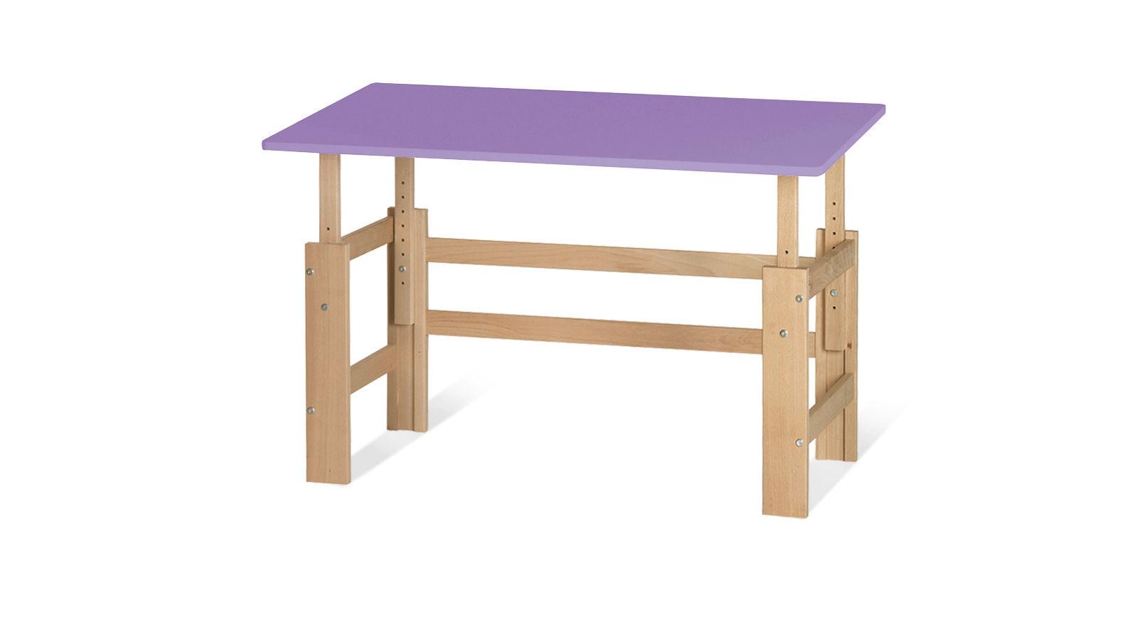 Schreibtisch Kids Town höhenverstellbar in Violett