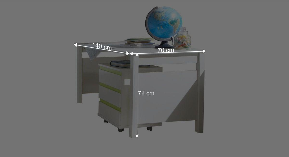 Schreibtisch Los Pinos Bemaßungsgrafik
