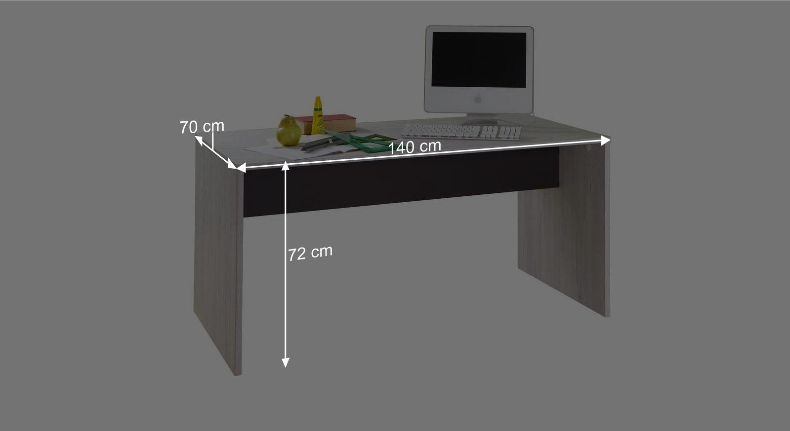 Schreibtisch Meretos Bemaßungsgrafik