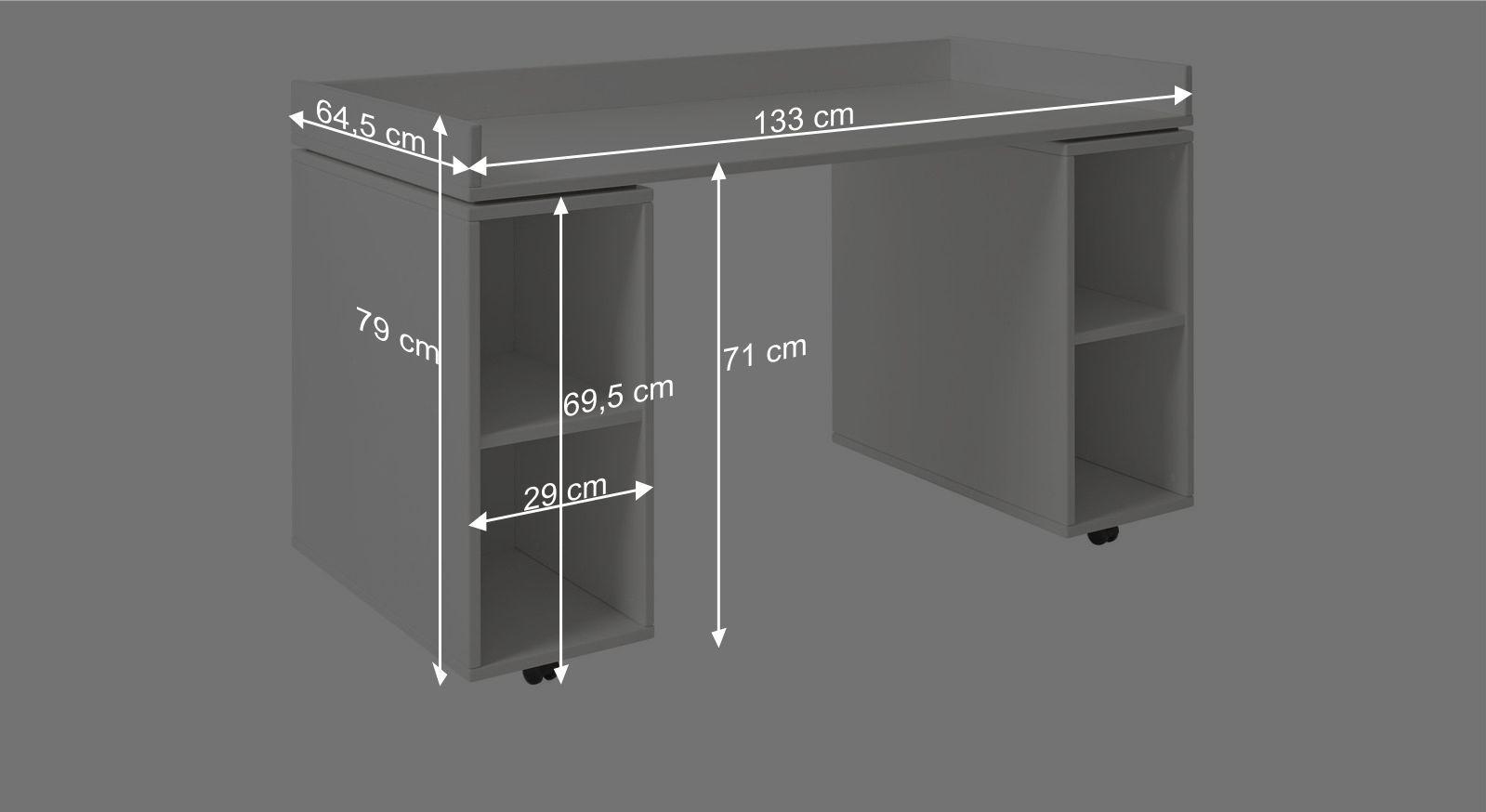 Schreibtisch Originals Bemaßungsgrafik