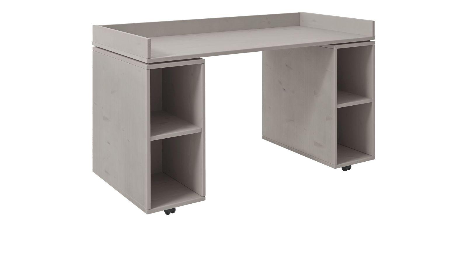 Grau lasierter Schreibtisch Original rollbar von LIFETIME