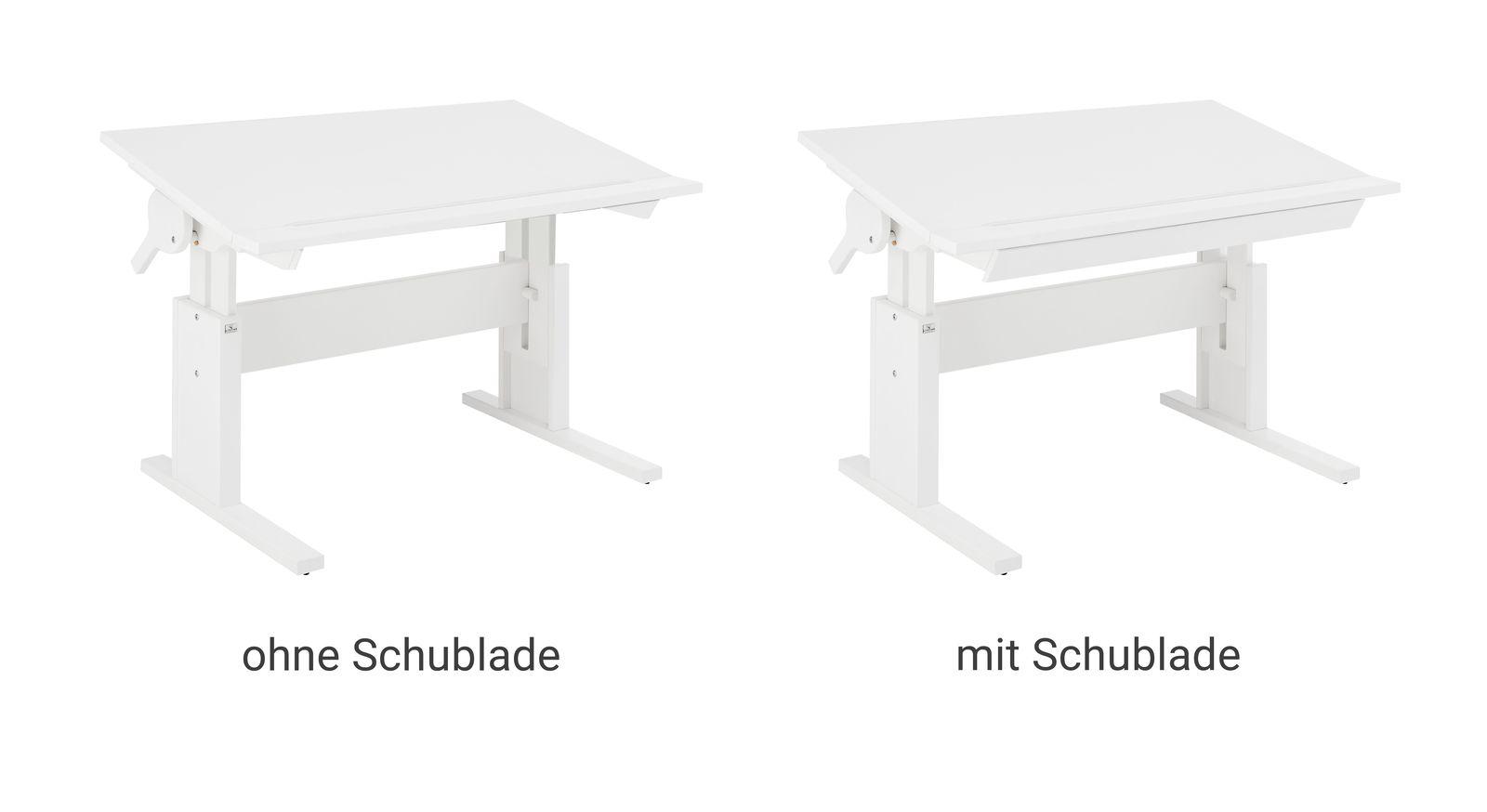 Weiß lackiert Schreibtisch Original neigbar