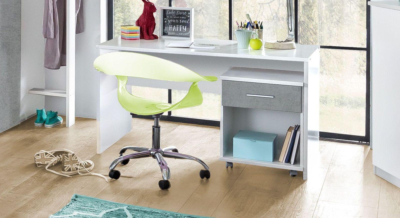 Schreibtisch Porvenir in alpinweißem Dekor