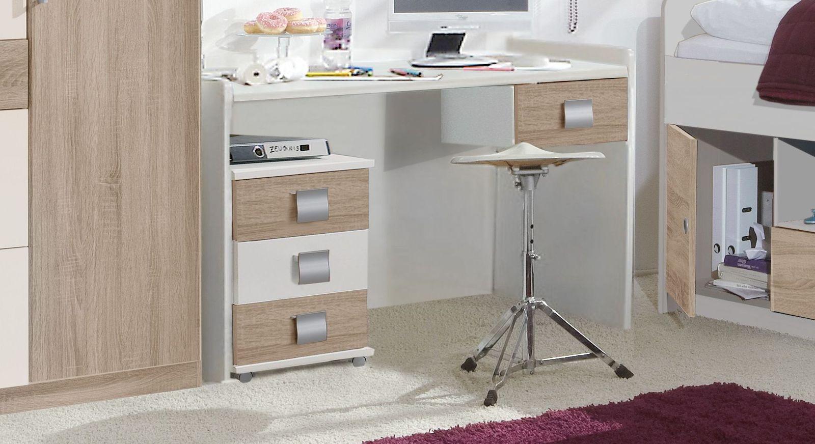 Schreibtisch Prea mit Schublade im Absetzton
