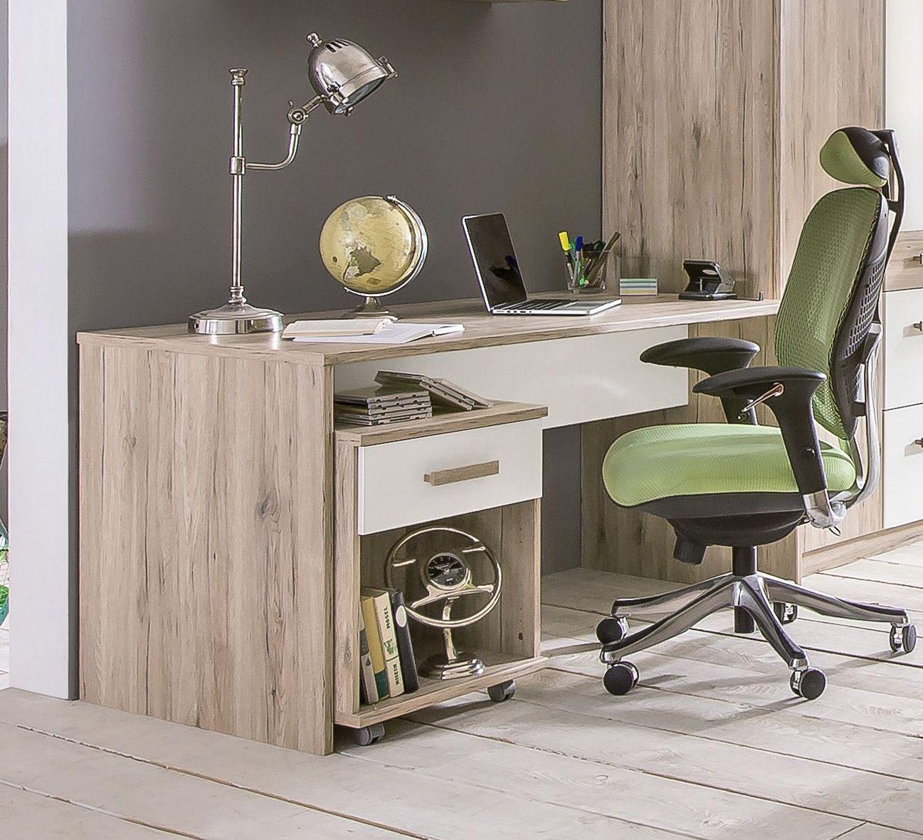 Schreibtisch mit gro er arbeitsfl che f r jugendliche tropea for Schreibtisch 140 breit