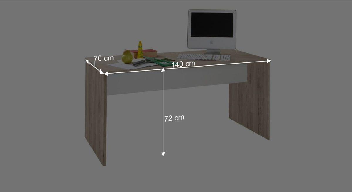 Schreibtisch Tropeas Bemaßungsgrafik