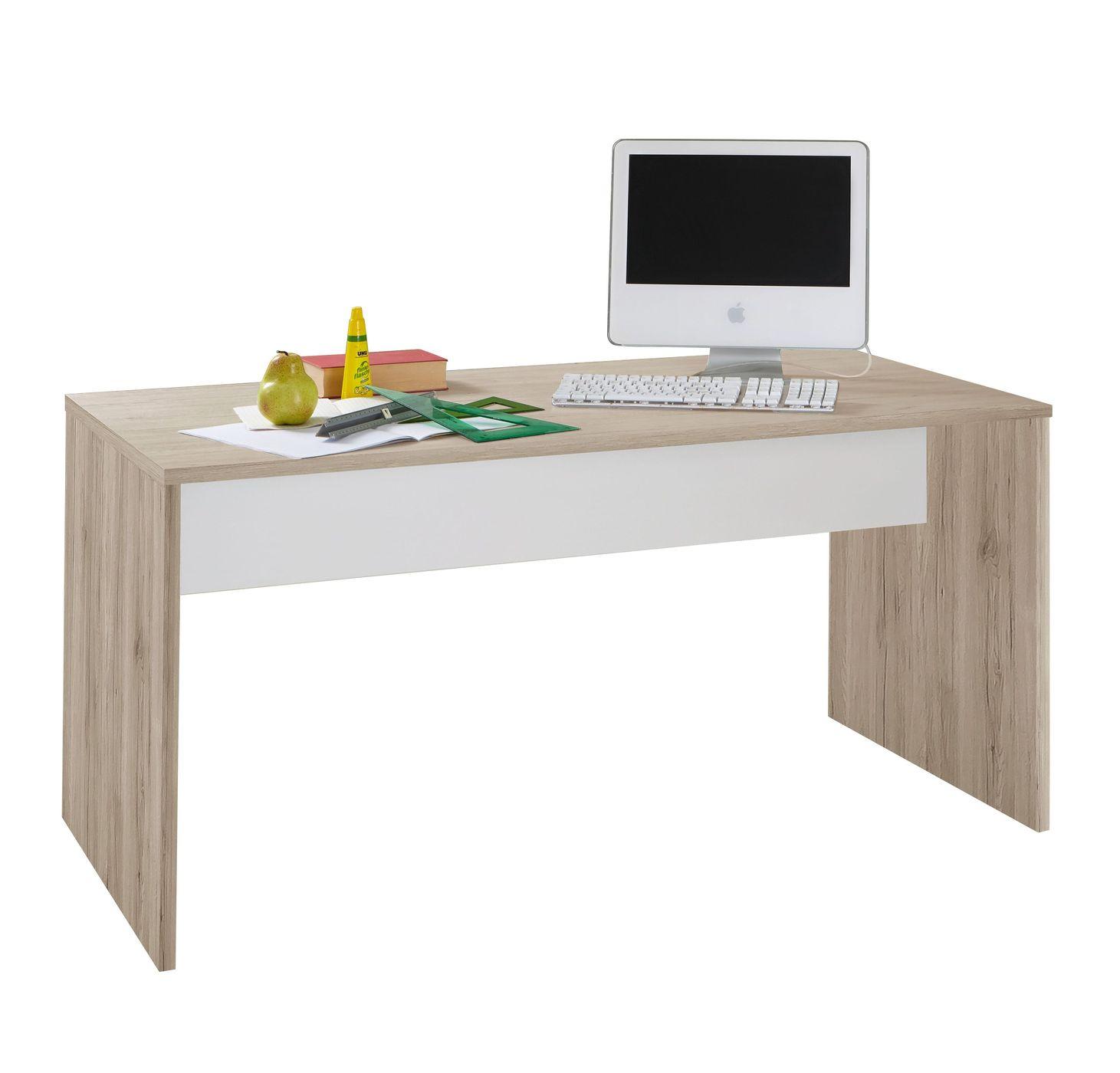 schreibtisch mit gro er arbeitsfl che f r jugendliche tropea. Black Bedroom Furniture Sets. Home Design Ideas