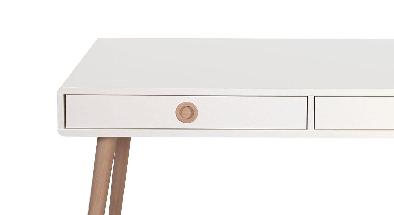 Schreibtisch Zuria mit Eichenholzbeinen