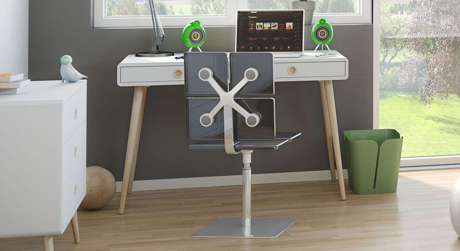 Schreibtisch Zuria mit weißer Tischplatte