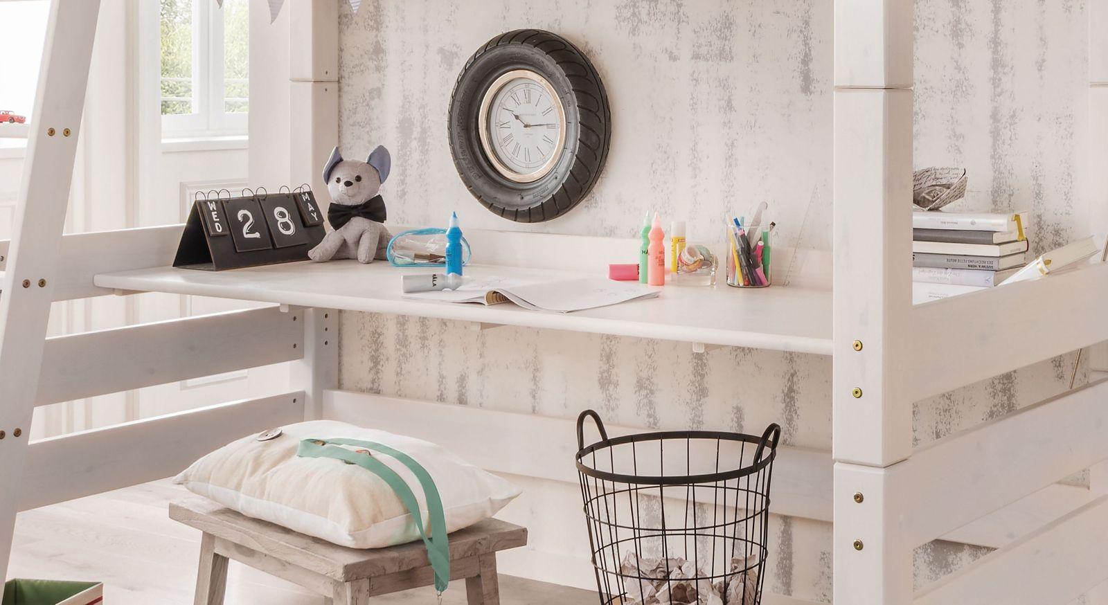 Schreibtischplatte Kids Paradise aus massiver Kiefer
