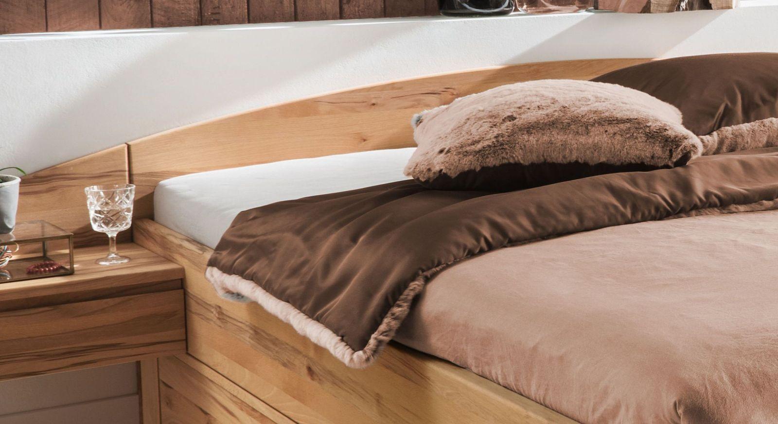 Schubkasten-Bett Burgau mit gebogenem Kopfteil