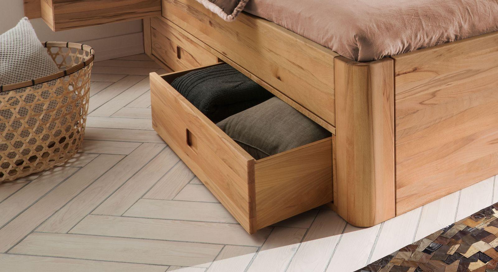 Schubkasten-Bett Burgau mit leichtgängigen Metallauszügen