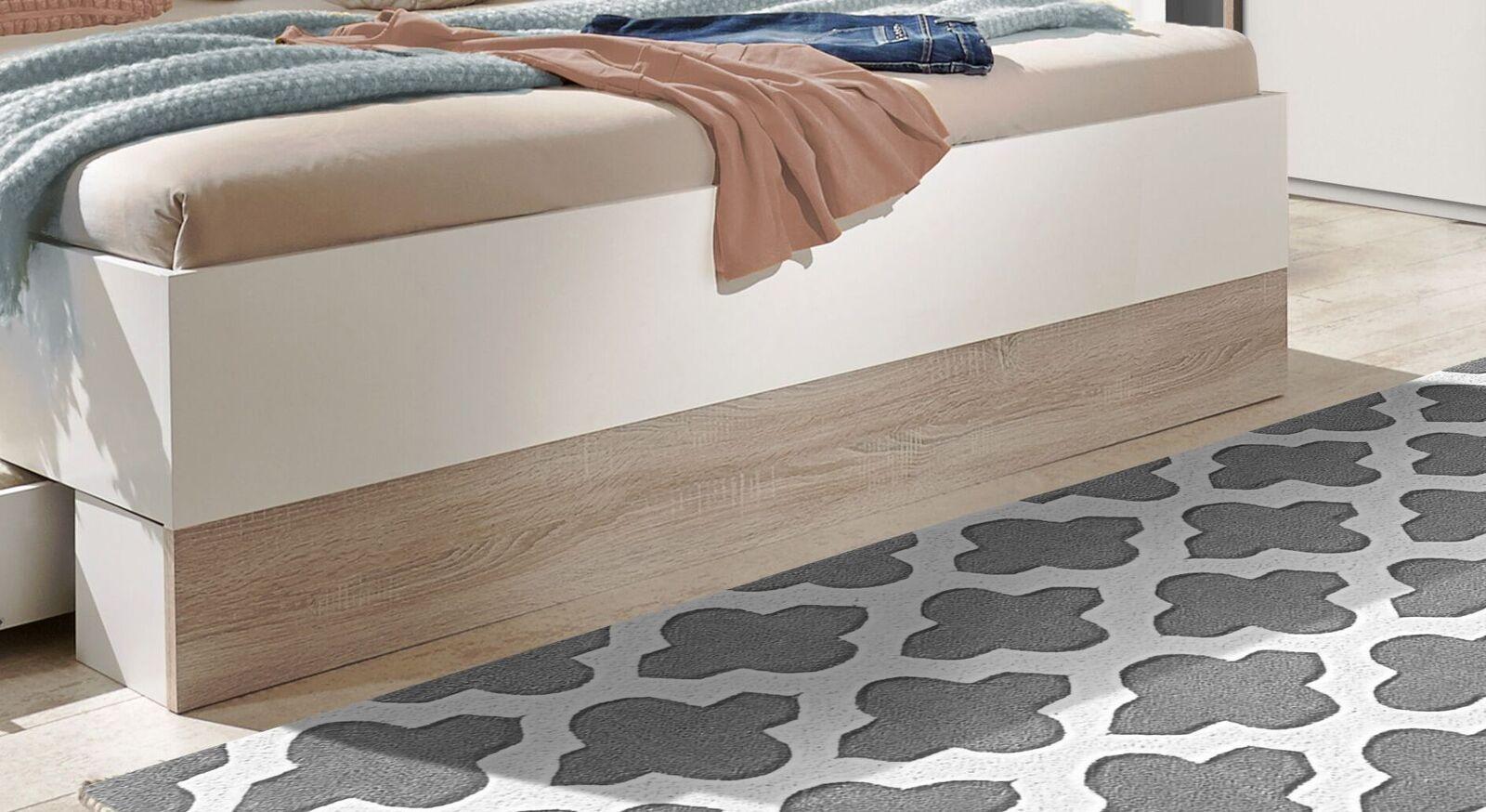 Schubkasten-Bett Kormoran mit Fußblende im Absetzton