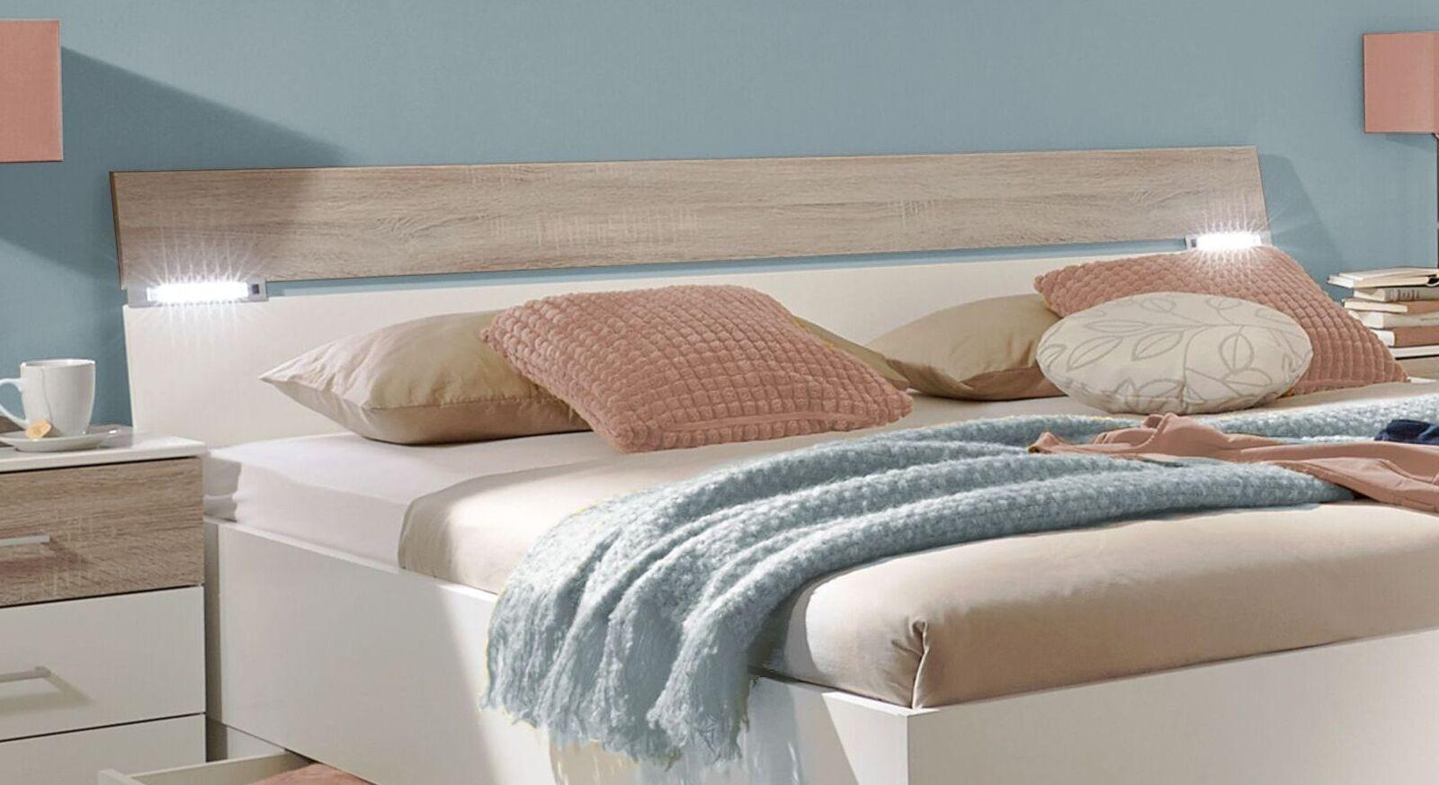 Schubkasten-Bett Kormoran mit stilvoller Beleuchtung