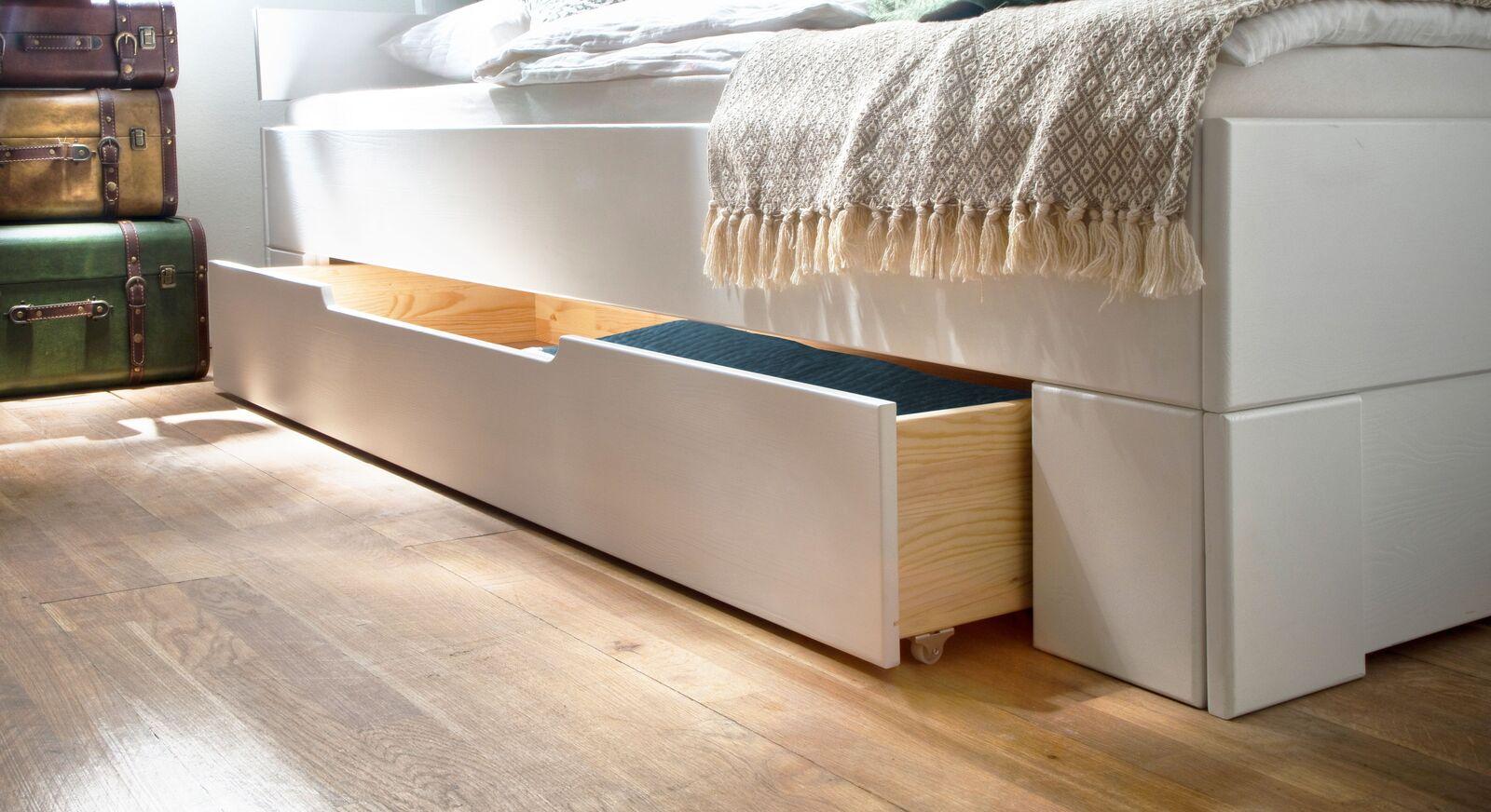 Schubkastenbett Ottena mit verstecktem Stauraum