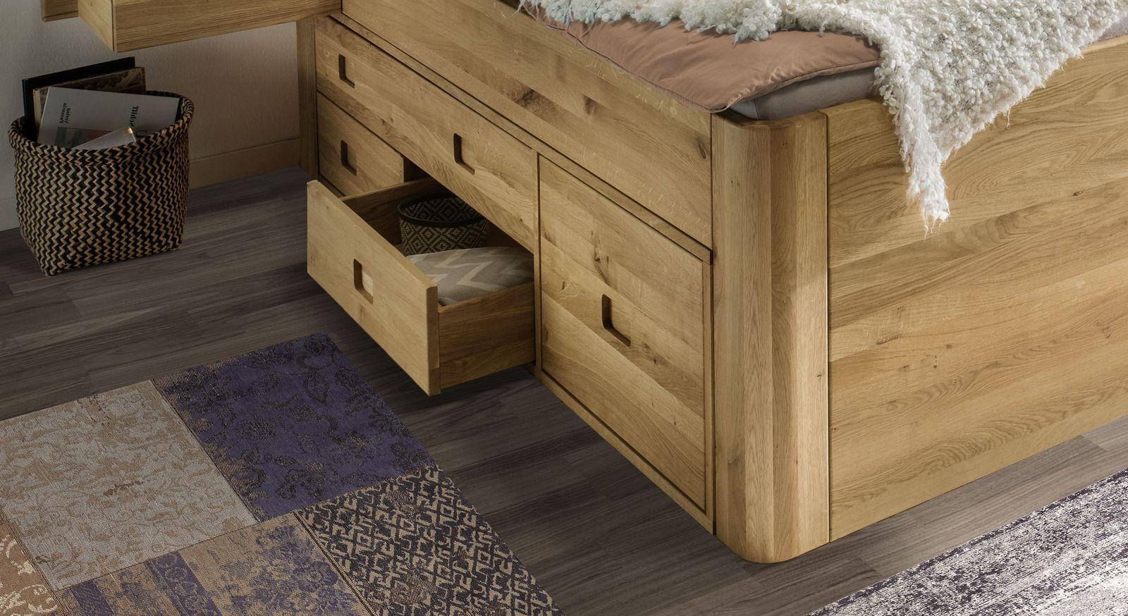 Schubkasten-Bett Pram mit durchdachter Schubladen-Konstellation