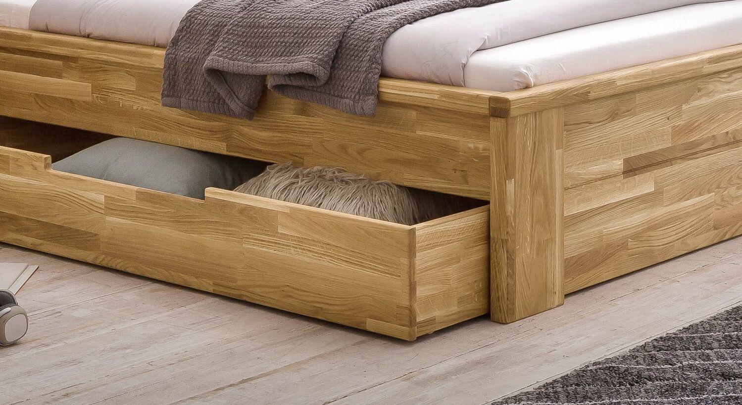 Schubkasten-Bett Sumak mit passgenauen Bettkästen