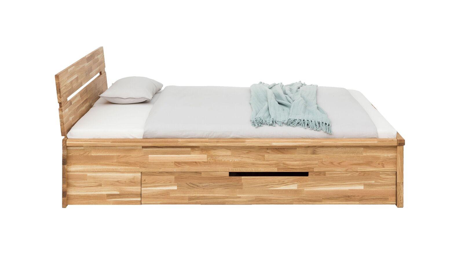 Stilvolles Schubkasten-Bett Sumaß mit Blende
