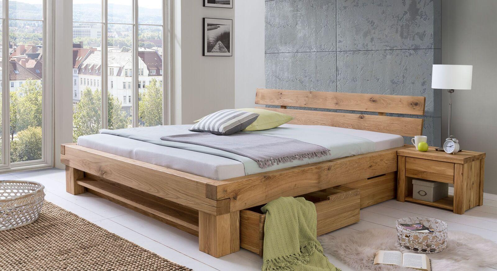 Schubkasten-Bett Tomba mit passendem Nachttisch