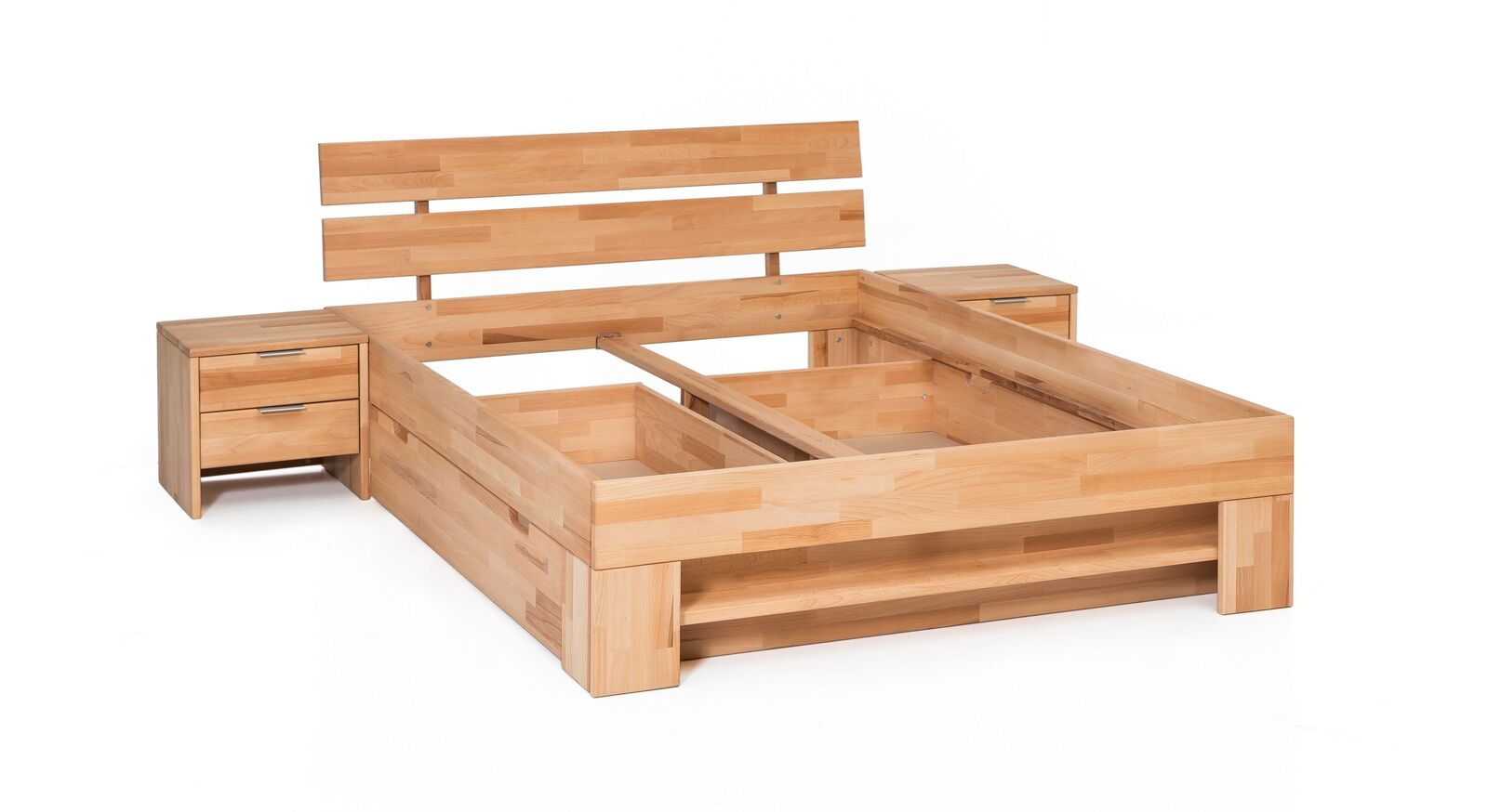 Stabiles und robustes Schubkasten-Bett Valisia