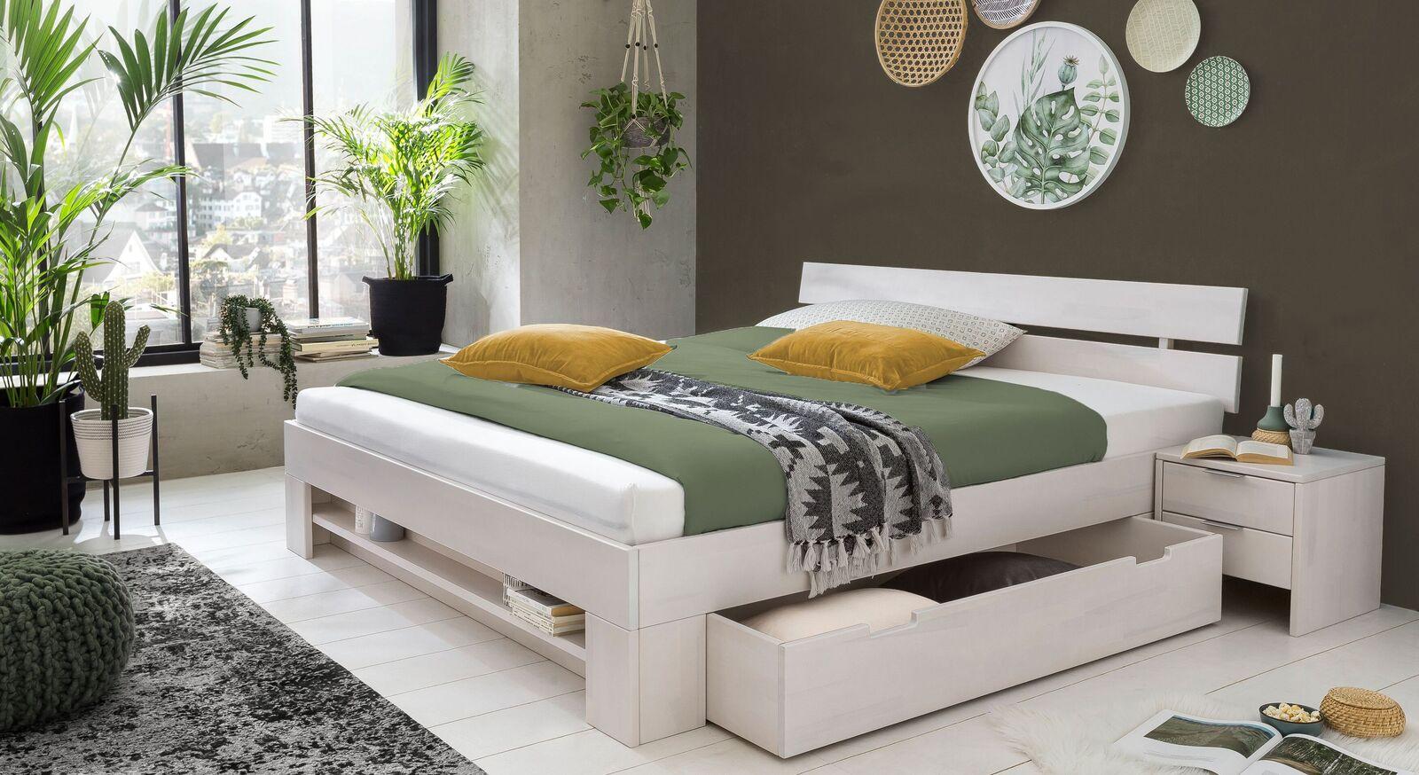 Schubkasten-Bett Valor mit passendem Nachttisch