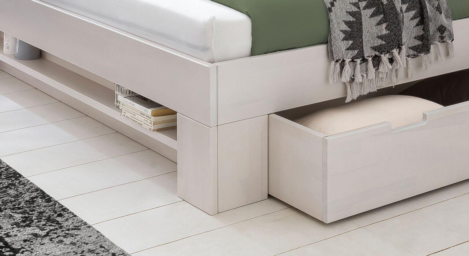 Schubkasten-Bett Valor mit stabilen Winkelfüßen