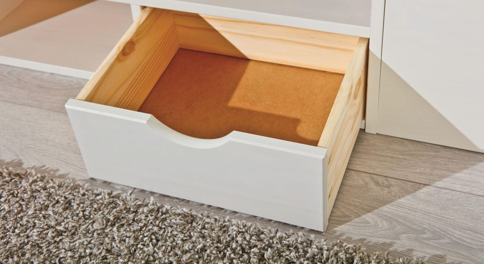 Schubkasten-Doppelbett Göteborg mit praktischer Schublade
