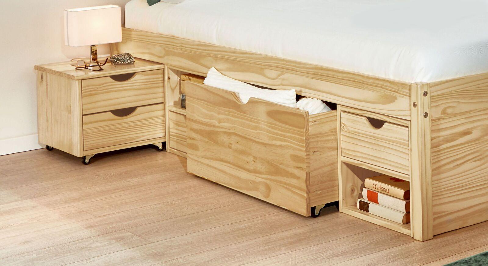 Schubkasten-Doppelbett Oslo in hochwertiger Verarbeitung