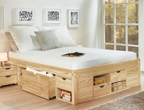 seniorenbett mit bettkasten g nstig auf kaufen. Black Bedroom Furniture Sets. Home Design Ideas