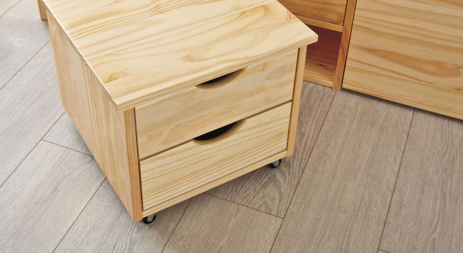 Schubkasten-Doppelbett Oslo inklusive Schubladen-Nachttische
