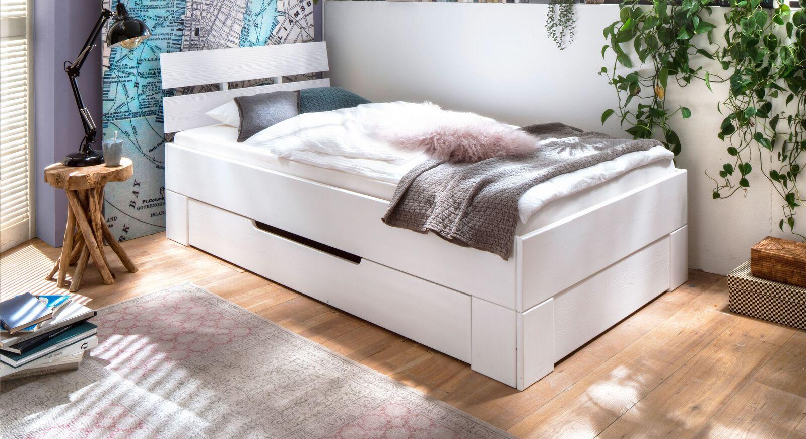 Schubkasten-Einzelbett Ottena mit integriertem Stauraum
