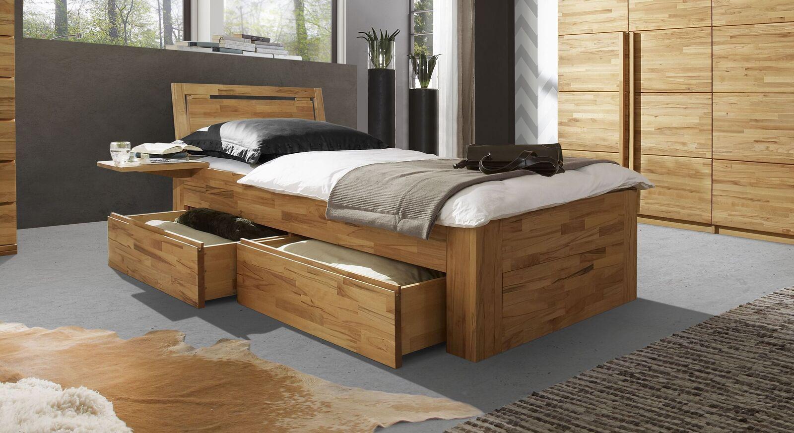 Schubkasten-Einzelbett Andalucia inklusive Kopfteil