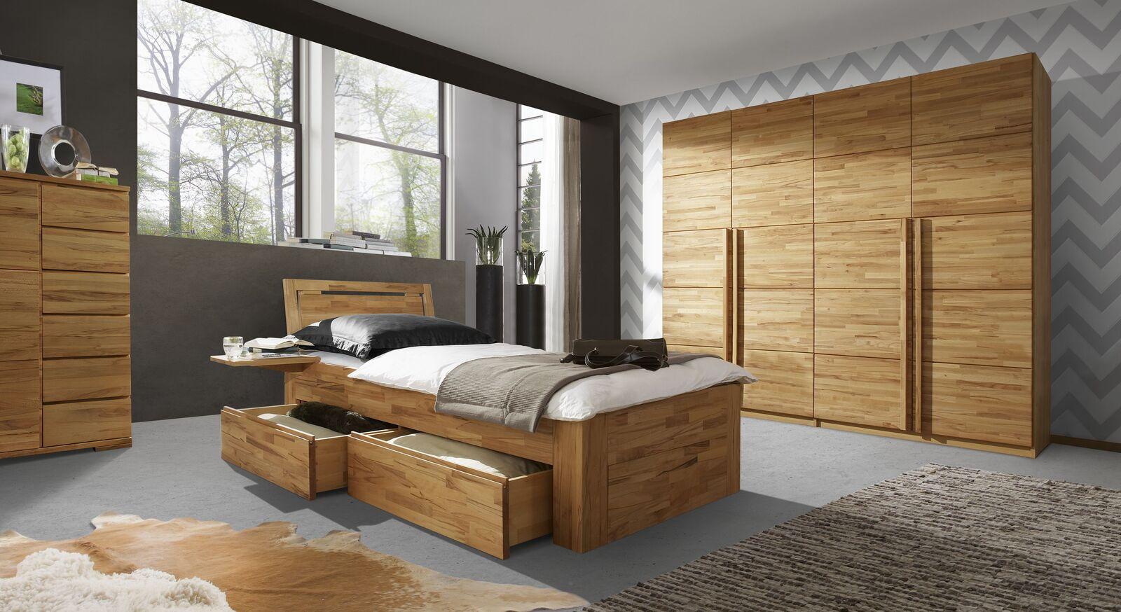 Schubkasten-Einzelbett Andalucia mit passenden Möbeln
