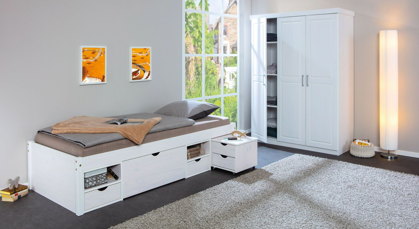 Schubkasten-Einzelbett Göteborg mit passenden Produkten