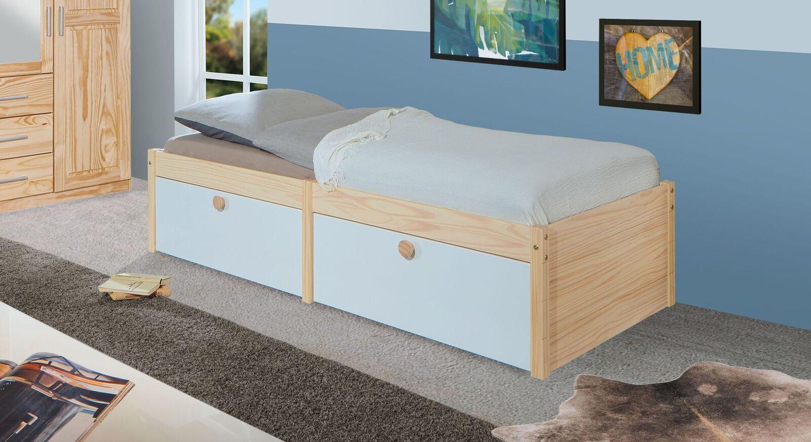 Schubkasten-Einzelbett Saffar mit integriertem Stauraum
