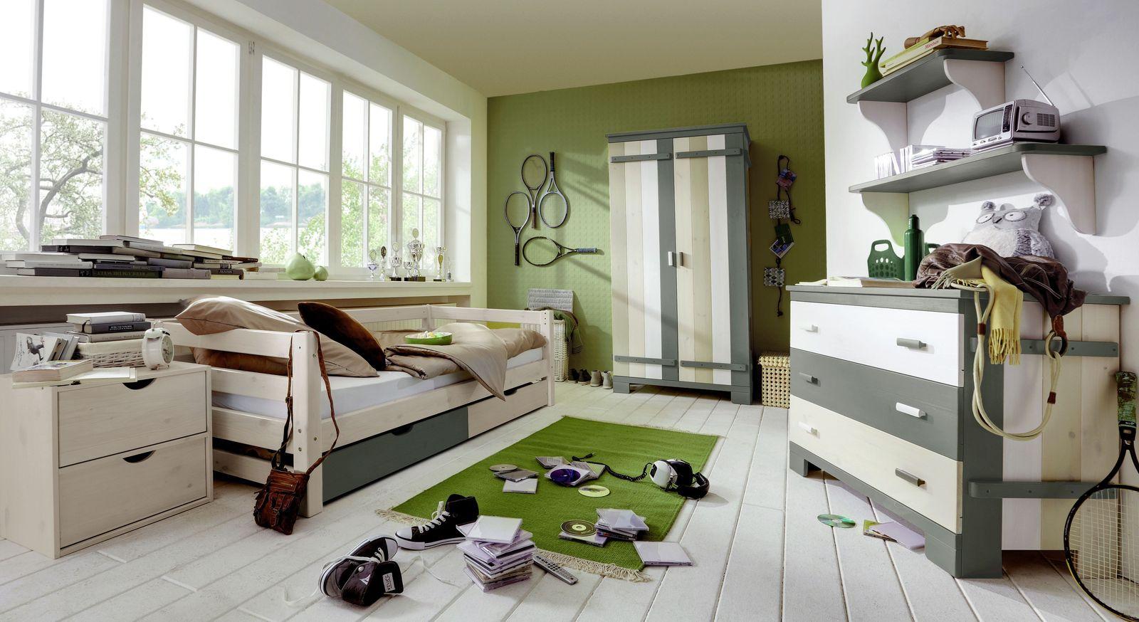 Schubkasten-Kinderbett Kids Paradise Laubhütte mit passenden Möbeln
