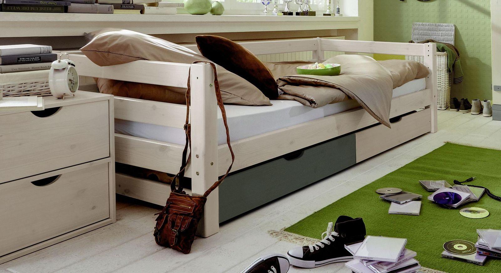 Schubkasten-Kinderbett Kids Paradise Laubhütte mit praktischem Stauraum