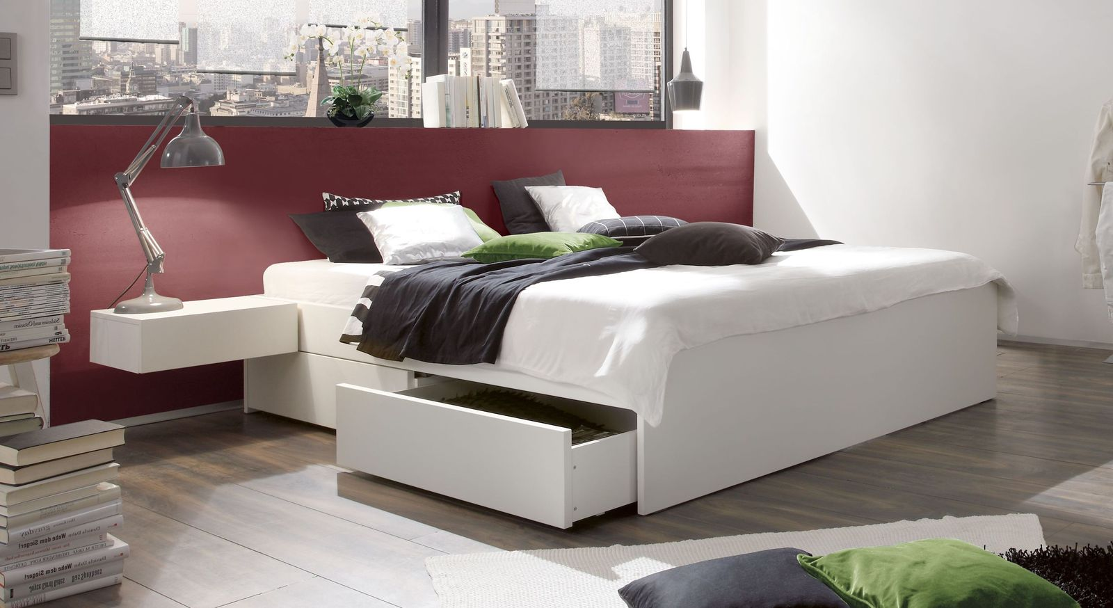 wei e schubkasten liege aus massivem buchenholz liverpool. Black Bedroom Furniture Sets. Home Design Ideas