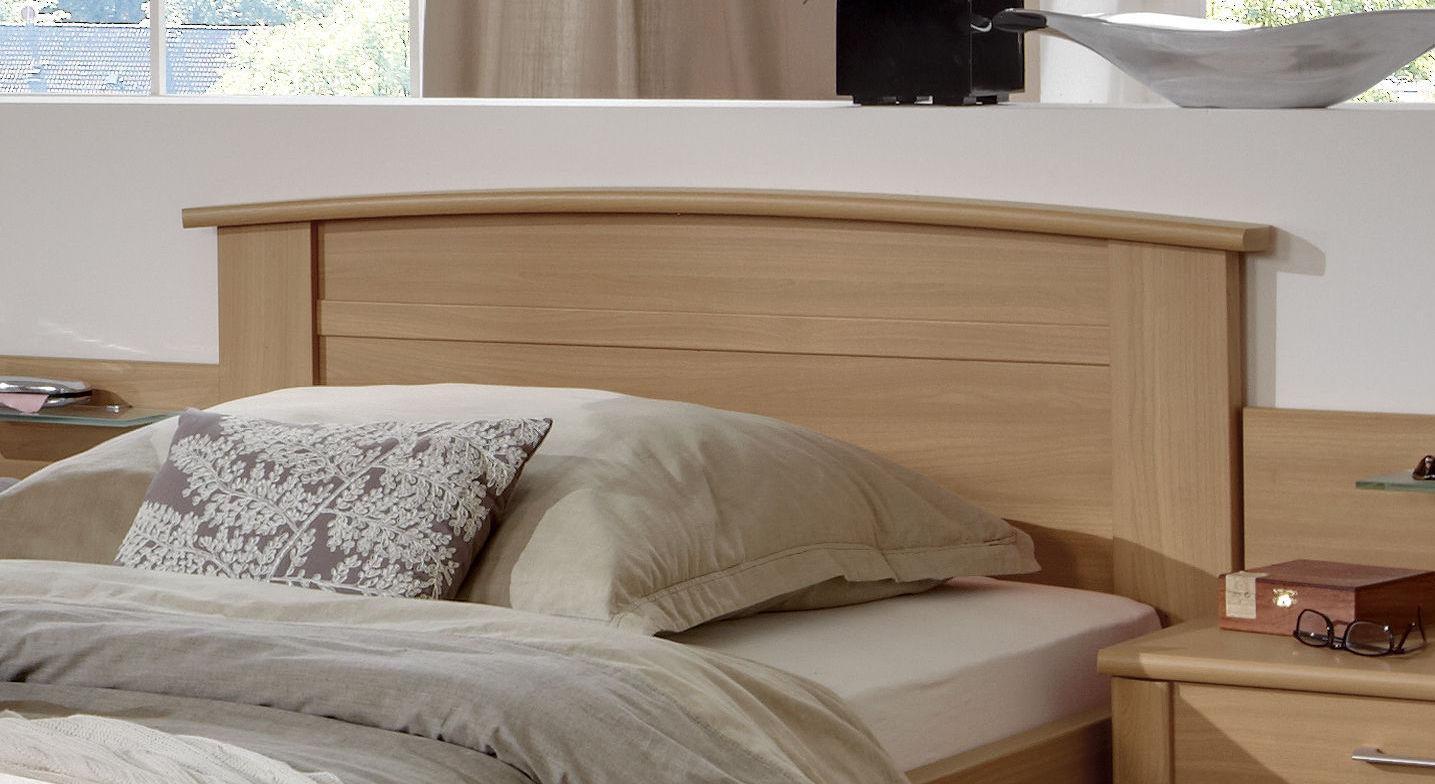 Schubkasten-Seniorenbett Dabola mit charmant geschwungenem Kopfteil